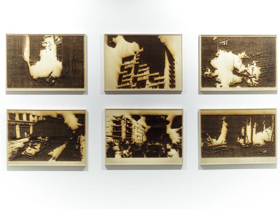 Ce qui Brûle series (2019) - Laser Wood Engraving